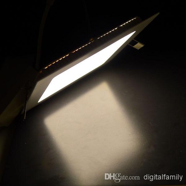 12X ampoules carrées de panneau 100% 3w / 4w / 6w / 9w / 15w / 18w blanc / plafonnier blanc chaud de LED ont mené l'éclairage de cuisine lampe de bureau par l'intermédiaire de FedEx