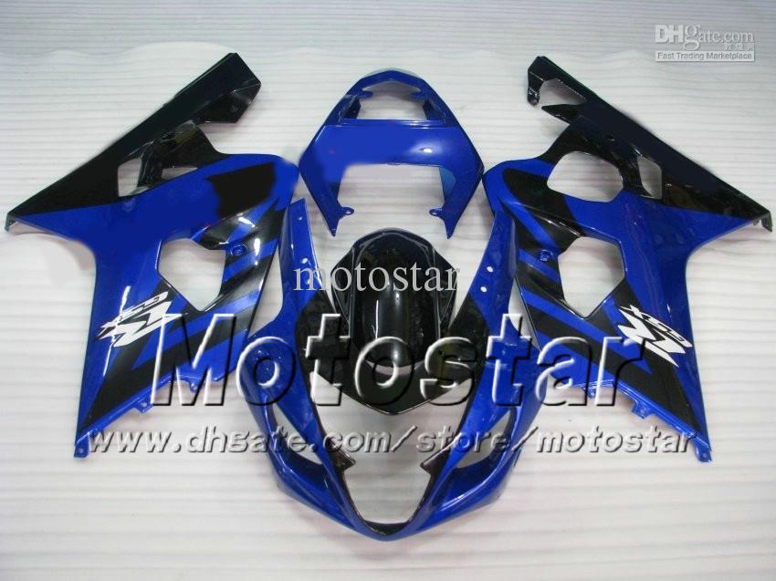 Carroçaria personalizada para SUZUKI GSXR 600 750 K4 2004 2005 GSXR600 GSXR750 04 05 R600 R750 conjunto azul