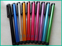Wholesale Aluminum Capacitive Touch Screen Stylus - Capacitive Stylus Pen Aluminum alloy Tablet pc Touch Pen For Ipad 2 Screen Flytouch 6 7 8 9 Via 8850