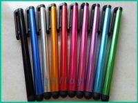 pluma táctil de aluminio al por mayor-Lápiz táctil táctil capacitivo de la PC de la tableta de la aleación de aluminio de la pluma para la pantalla de Ipad Flytouch 6 7 8 9 vía 8850