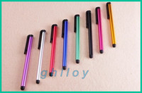 tablet pc onda al por mayor-Lápiz táctil capacitiva pluma de aleación de aluminio Tablet PC para Sumsang Onda Ainol Sanei 7 8 9 10 pulgadas 2 unids / lote