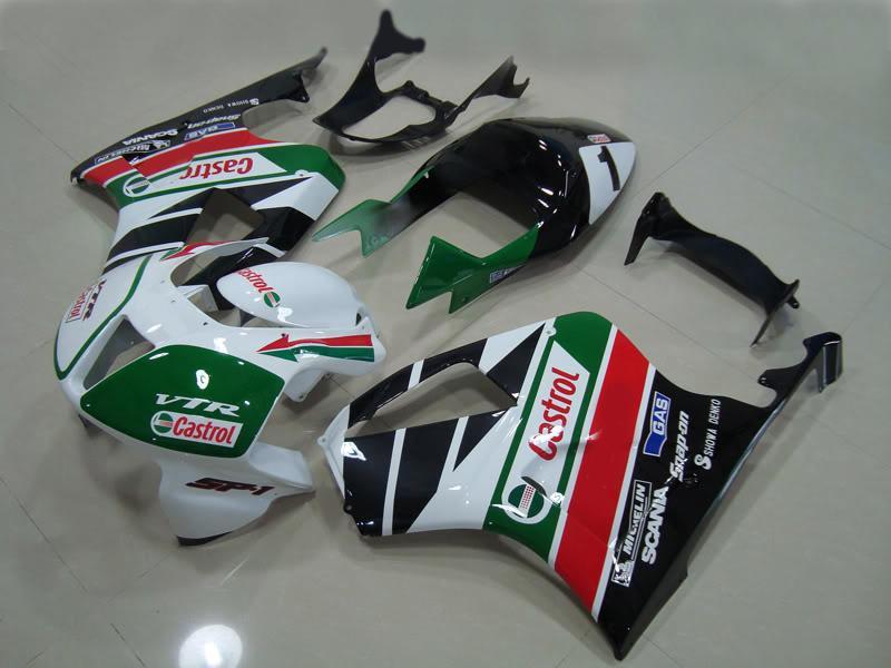 Yüksekliği Kaliteli Costrol Honda VTR1000 1000R VTR 1000 VTR1000RR RC51 SP1 SP2 00-06 Bodywork Perazikleri Kiti