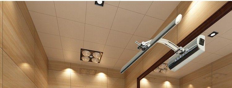 Vanity Lights Mirror Light Makeup Shaking Hans Huvudlampa 7W 11W 14W 18W Varm Vit Stål Badrumslampa med Switch Ny ankomst till salu
