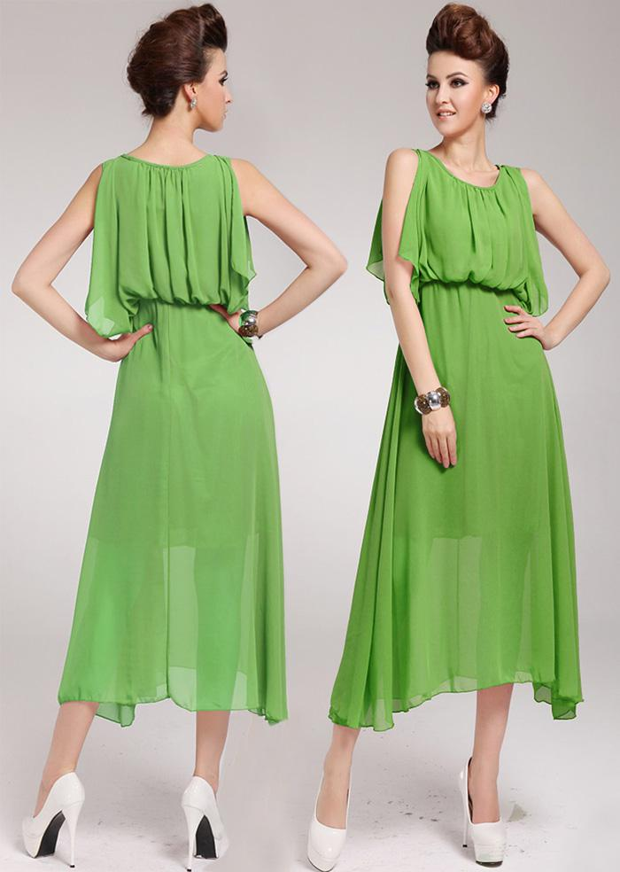 Zomer jurken plus size vrouwen cape stijl zijde chiffon jurk sexy western vest lange jurk maxi jurken bohemian beach jurk
