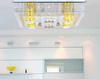 Modern Minimalist K9 Crystal Glass LED Ceiling Lamp Dining Room Bedroom Light Remote Control Light 80*60*25cm