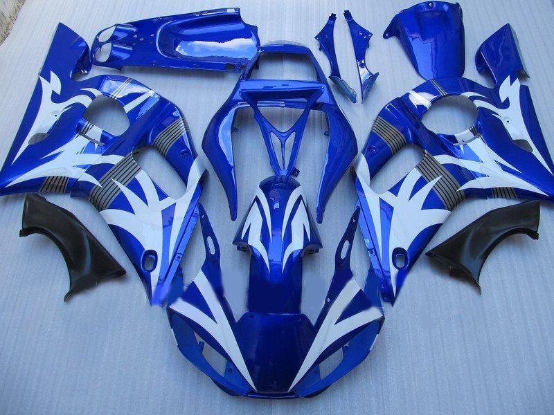 Bodaywork Fairing for YAMAHA R6 YZF-R6 98 99 00 01 02 YZF-R6 YZFR6 1998 1999 2000 2001 2002 Blue 69M11