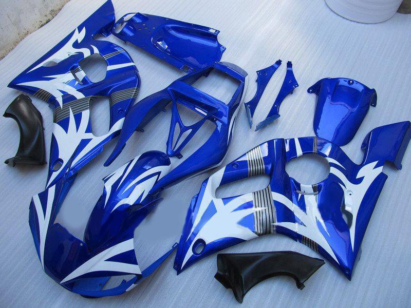 Carenagem Bodaywork para YAMAHA R6 YZF-R6 98 99 00 01 02 YZF-R6 YZFR6 1998 1999 2000 2001 2002 Azul 69M11
