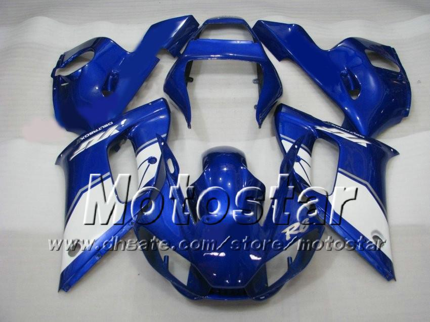 Carénage pour YAMAHA R6 YZF-R6 98 99 00 00 02 02 YZF-R6 YZFR6 1998 1999 2000 2001 2002 Bleu Blanc ZM476