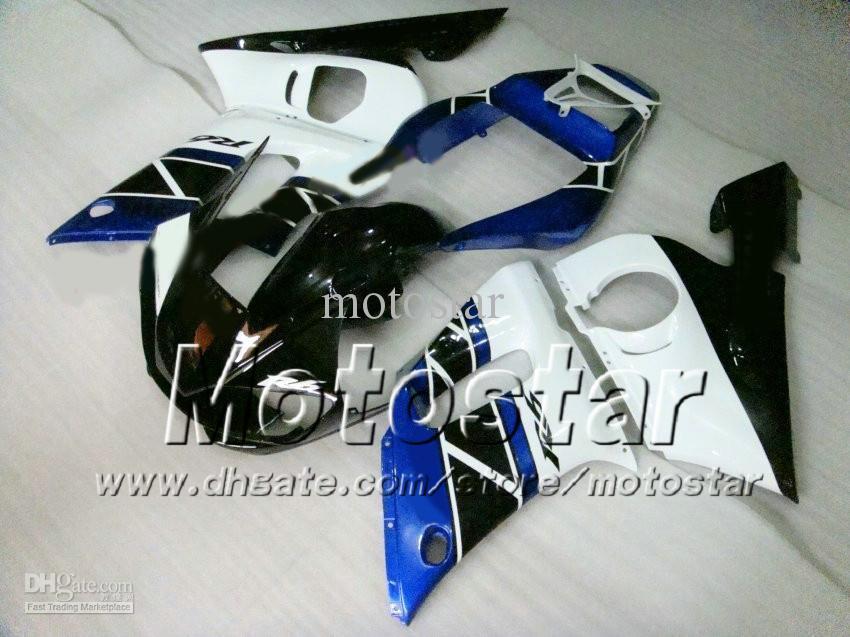 Carénage pour YAMAHA R6 YZF-R6 98 99 00 01 02 YZF-R6 YZFR6 1998 1999 2000 2001 2002 Blanc DK.Blue 69M