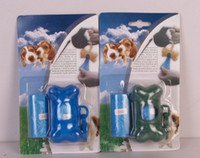Bolsas de basura para perros biodegradables Bolsas de basura para mascotas Set Rolls On Board Bone Dispenser Color al azar 20pcs / lot