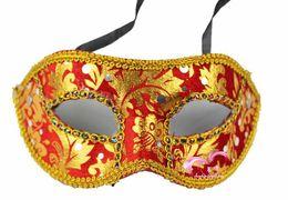 $enCountryForm.capitalKeyWord UK - 60PCS 32G Halloween mask   high-grade cloth mask   Bar Accessories   Venetian masks embroidered cloth mask edge