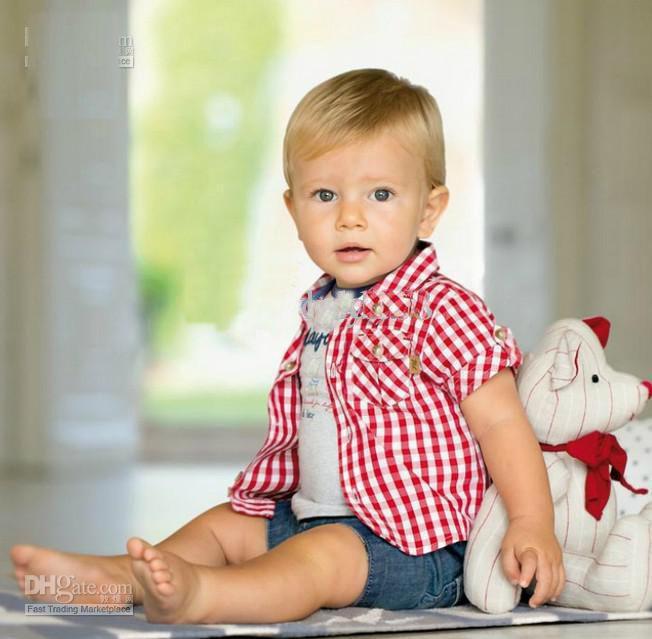 Großhandel Sommer Baby Kleidung Kurzarm T Shirts + T Shirts + Cowboy ...