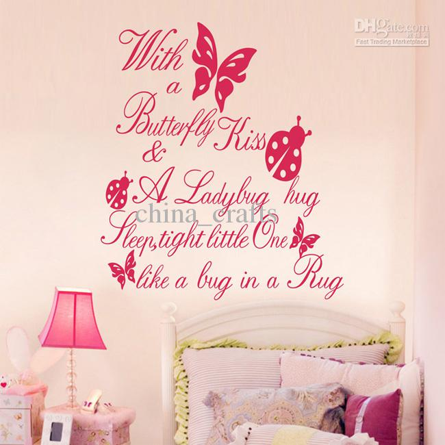 Kids room butterfly wall quotes vinyl wall stickers for Room decor ideas quotes