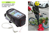 Wholesale Newest Front Tube Bag - Lowest Price 2013 Newest 30pcs lot Waterproof Cycling Bike Bicycle Frame Pannier Front Tube Bag For Cell Phone