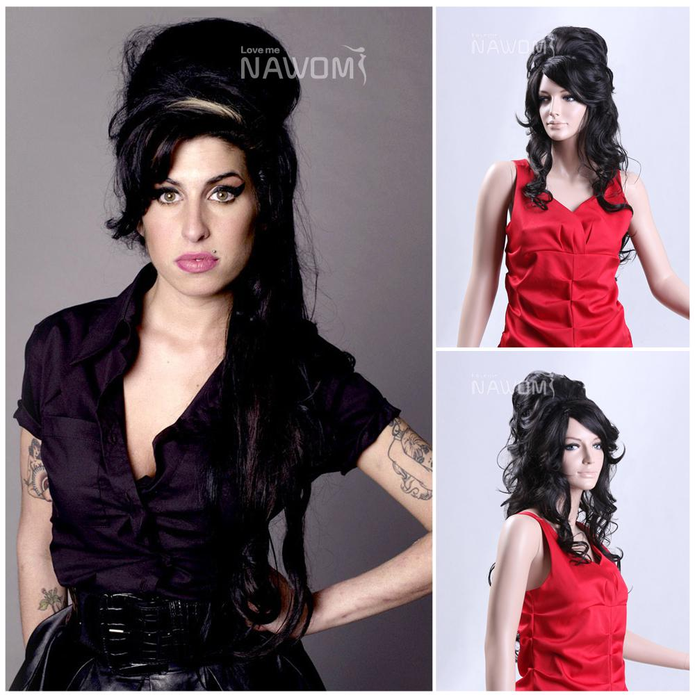 2013 Long Wigs Amy Winehouse Wig Halloween Wig Synthetic Hair Wigs ...