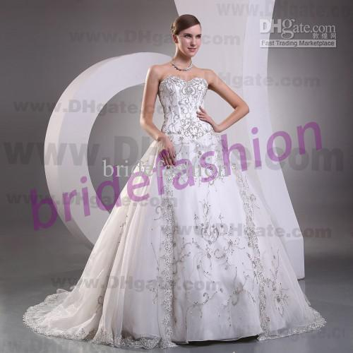 New Arrival!!2013 Hot Sale Elegant Sweetheart Ball Gown Sequin Beads Crystal Custom Made Tulle Wedding Dresses