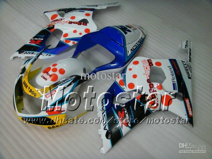 Set carene SUZUKI GSXR 600 750 K1 2001 2002 2003 GSXR600 GSXR750 01 02 03 R600 Rcarrozzeria gratuito