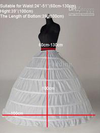 Опт Белый 6 обруч юбка кринолин скольжения нижняя юбка свадебное бальное платье свадебное платье юбки на складе горячей продажи