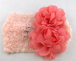 $enCountryForm.capitalKeyWord Canada - Children Big Flower Hair band Baby Hair Accessories Wide edge lace headbands 10 PCS LOT