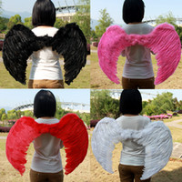 Wholesale Stage Prom Dresses - Adult prom dress stage performance supplies feather angel wings 60X80CM