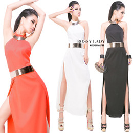 Wholesale Vintage Girdles - Sexy Bridal gown wedding long dress Halter backless evening long dress Collars girdle as gift 612