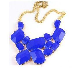 Wholesale Cheap Bib Necklace Jewelry - Womens Bib Necklace Quality Candy Colors Chunky Jewelry Statement Necklaces Cheap Jewelry 12PCS LOT