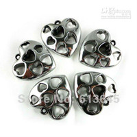 Wholesale Heart Shaped Pendant Scarf - New Arrival! 12PCS LOT Silver CCB Romantic Heart Shape Pendant Jewellery Necklace Scarf Ac