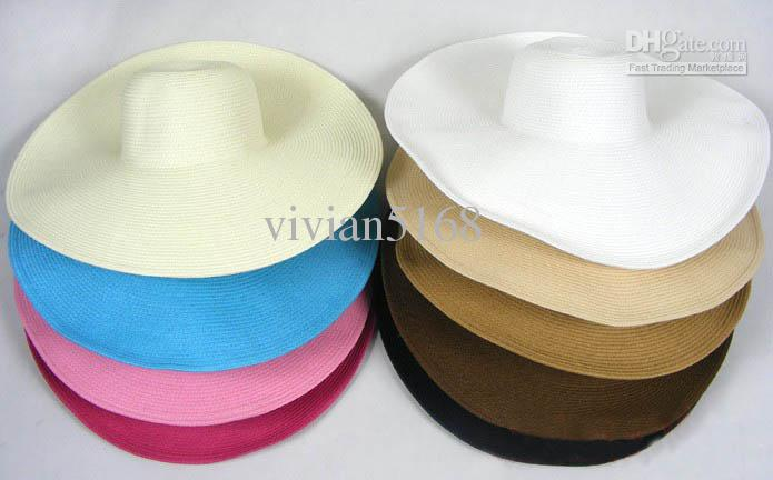 Wholesale and Retail Fashion Women Wide Large Brim Floppy Fold Summer Beach Sun Straw Hat Cap Spotlight on Hawaii