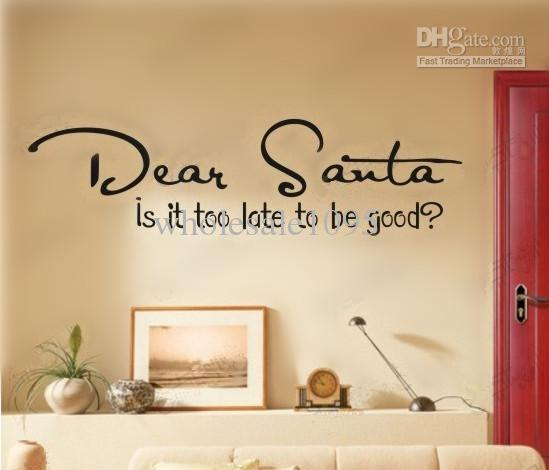 Christmas Wall Decals Removable.Hot Sale Style Wall Art Christmas Gift Modern Wall Stickers Dear Sauta Wall Decoration Ems Ship Art Decals Art Decals For Walls From Wholesale1095