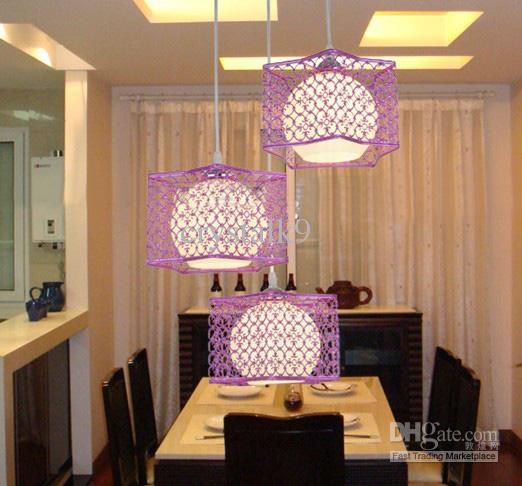 Discount Modern Fashion White Purple Rose Gold Stainless Steel Glass Pendant Light Chandelier Study Room Living Lamp 110cm20cm Globe