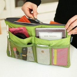 Wholesale Travel Insert Pockets - 2013 New Promotions Lady's organizer bag handbag organizer travel bag organizer insert with pockets storage bags 350pcs lot
