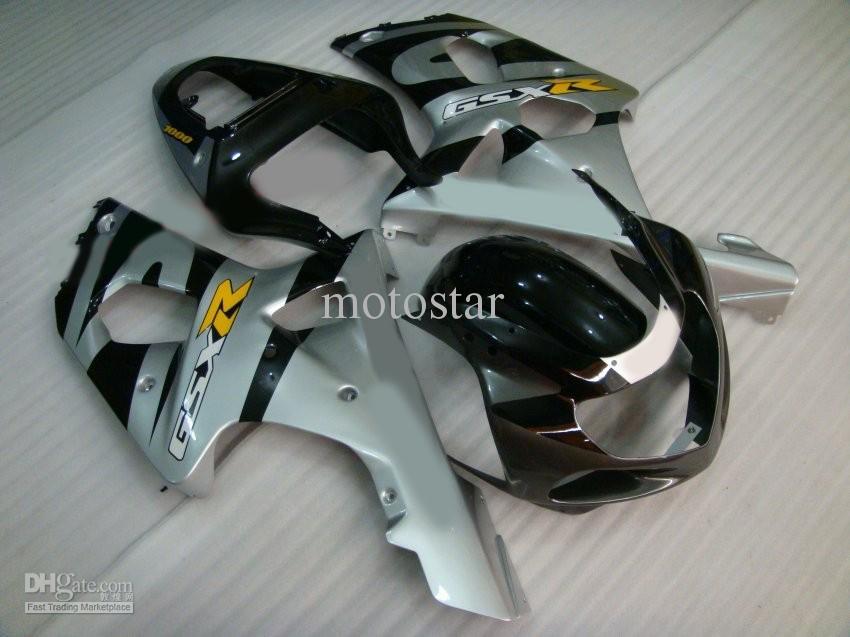 Kit de fairnging moldeado por inyección para GSXR1000 K2 2000 2001 2002 GSXR 1000 00 01 02 aceptar bricolaje cualquier color