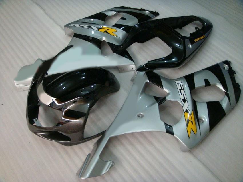 Kit fairng moldado por injeção para GSXR1000 K2 2000 2001 2002 GSXR 1000 00 01 02 aceitar DIY qualquer cor