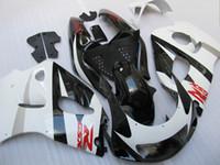 Wholesale 1996 Gsxr - Gloss white black fairing kit FOR SUZUKI GSXR 600 750 1996 1997 1998 1999 2000 GSXR600 GSXR750 96 97 98 99