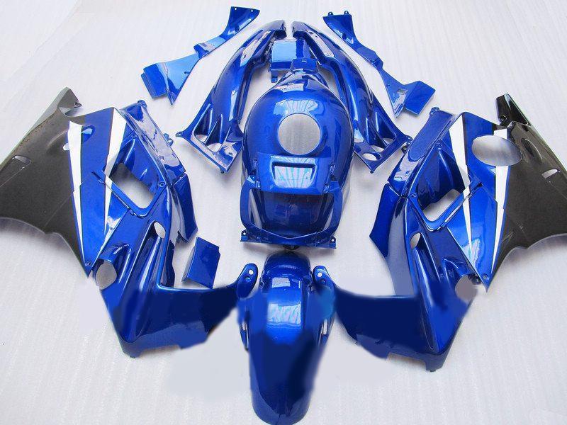 판매! HONDA CBR600F CBR600 F2 용 선물 + 탱크 페어링 키트 1991 1992 1993 1994 CBR 600F2 91 92 93 94 청색 / 흑색