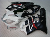 Wholesale F4i Honda - BLK white Compression fairing kit for CBR 600 CBR600 f4i CBR600F4i 01 02 03 2001 2002 2003