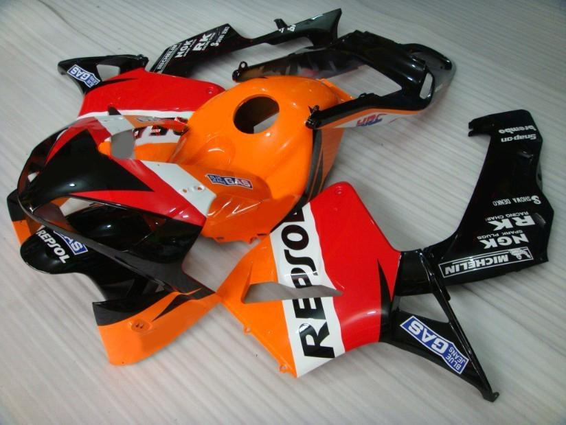 Honda Fairings CBR600RR 2003 2004 CBR 600 RR 03 04 CBR600フェアリングキットのためのREPSOL射出成形
