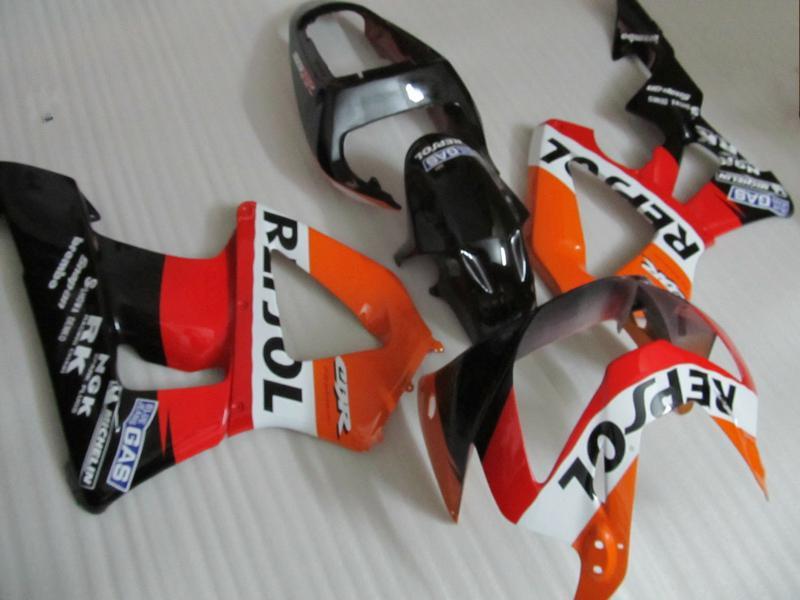HONDA CBR900RR 용 Professional REPSOL 오토바이 페어링 키트 929 2000 2001 CBR900 929RR CBR929 00 01 CBR929RR 오토바이 페어링 세트