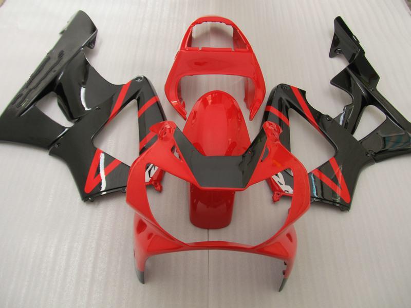 Personalizar kit de aireación ROJA ROJA para HONDA CBR900RR 929 2000 2001 CBR900 929RR CBR929 00 01 CBR929RR reparación del cuerpo carenados partes