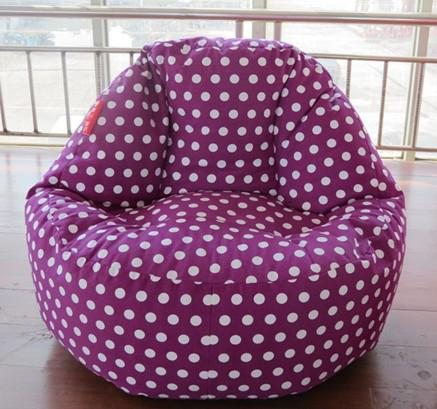 2018 Purple Polka Beanbag Chair High Back Support Bean Bag Recliner Fashion Adults Sitting Cushion From Recome 2714