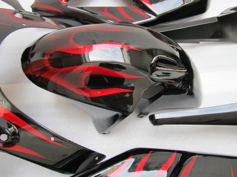 Red flame bodywork fairing kit for HONDA CBR900RR 954 2003 2002 CBR900 954RR CBR954 02 03 CBR954RR road racing body fairings set
