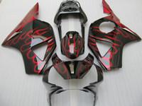 Wholesale honda cbr954rr fairings - Red flame bodywork fairing kit for HONDA CBR900RR 954 2003 2002 CBR900 954RR CBR954 02 03 CBR954RR road racing body fairings set