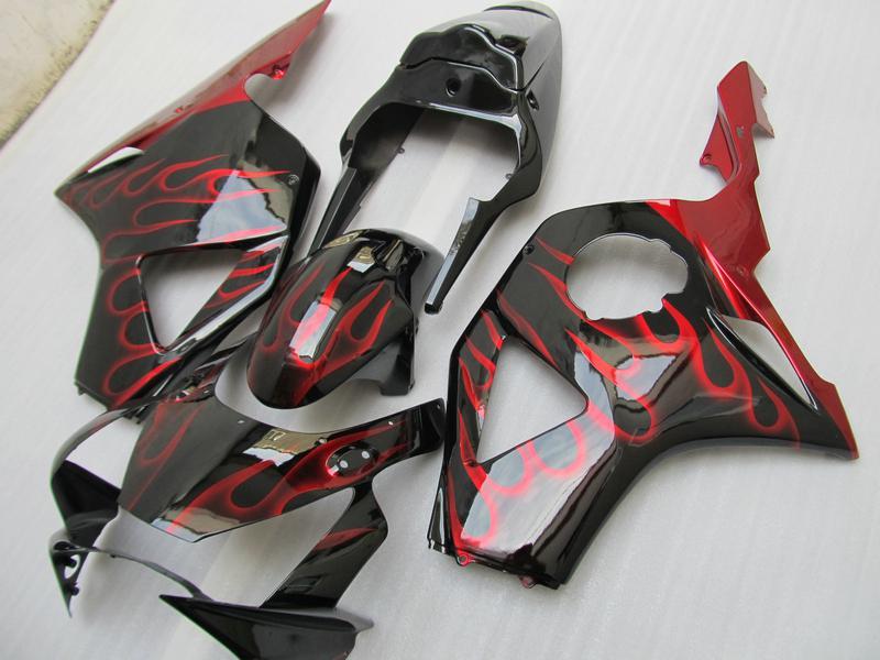 Red Flame Karosserieverkleidungssatz für HONDA CBR900RR 954 2003 2002 CBR900 954RR CBR954 02 03 CBR954RR Karosserieverkleidungssatz für Straßenrennen
