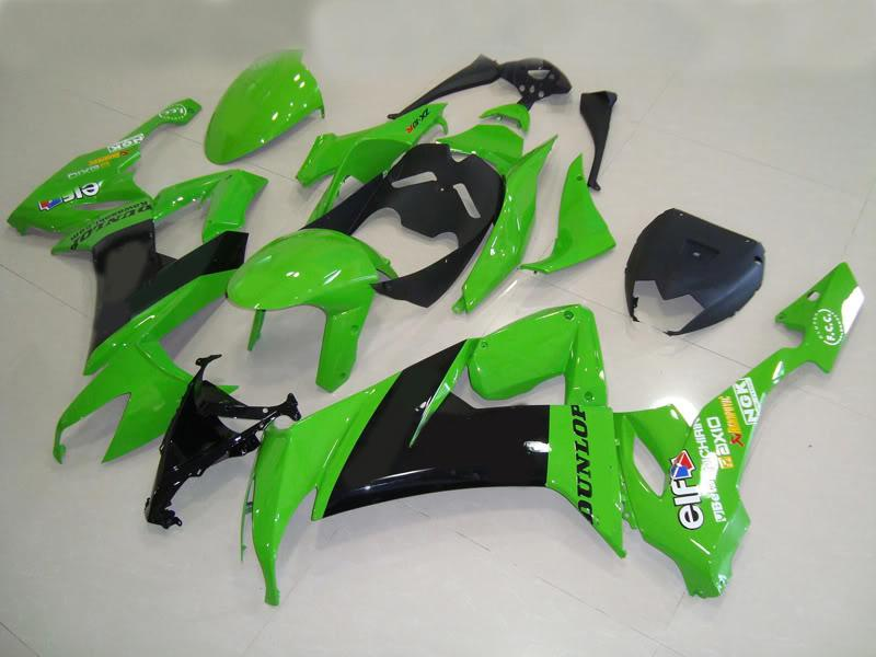 green KICK body parts for KAWASAKI Ninja ZX-10R 08 09 ZX 10R 2008 2009 ZX10R full fairing kit