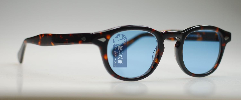 Vendita all'ingrosso - Freeshipping Retro Vintage Johnny Depp Occhiali da sole Tortoise Frame Occhiali da sole M Con lente blu