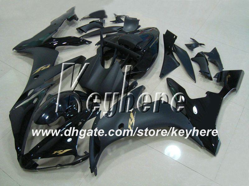 Kit de Carenagem de plástico ABS DIY personalizado para YAMAHA YZF1000R 2004 2005 2006 YZF R1 YZFR1 04 05 06 carenagens plana preto brilhante G2A peças da motocicleta
