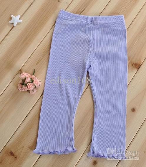 Crianças novas rapariga cor fixe algodão respirável cinco Calças Curtas Calças Calças Calças Calças 4 cores kz37