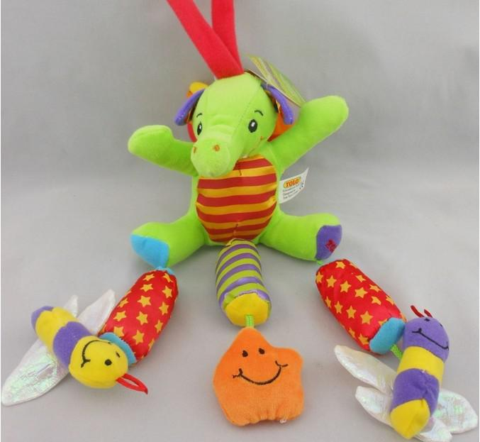 2020 TOLO Educational Soft Toy Dinosaur Sneezy Wind Chimes ...