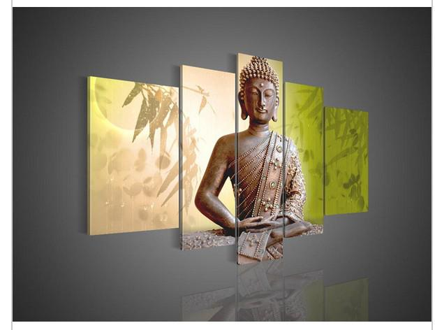 5 Panel Wall Art 2017 5 panel wall art religion budda oil painting on canvas from