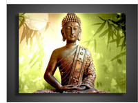 Wholesale Buddha Painting Green - Religion Green Buddha Wall Art Oil Painting On Canvas Picture
